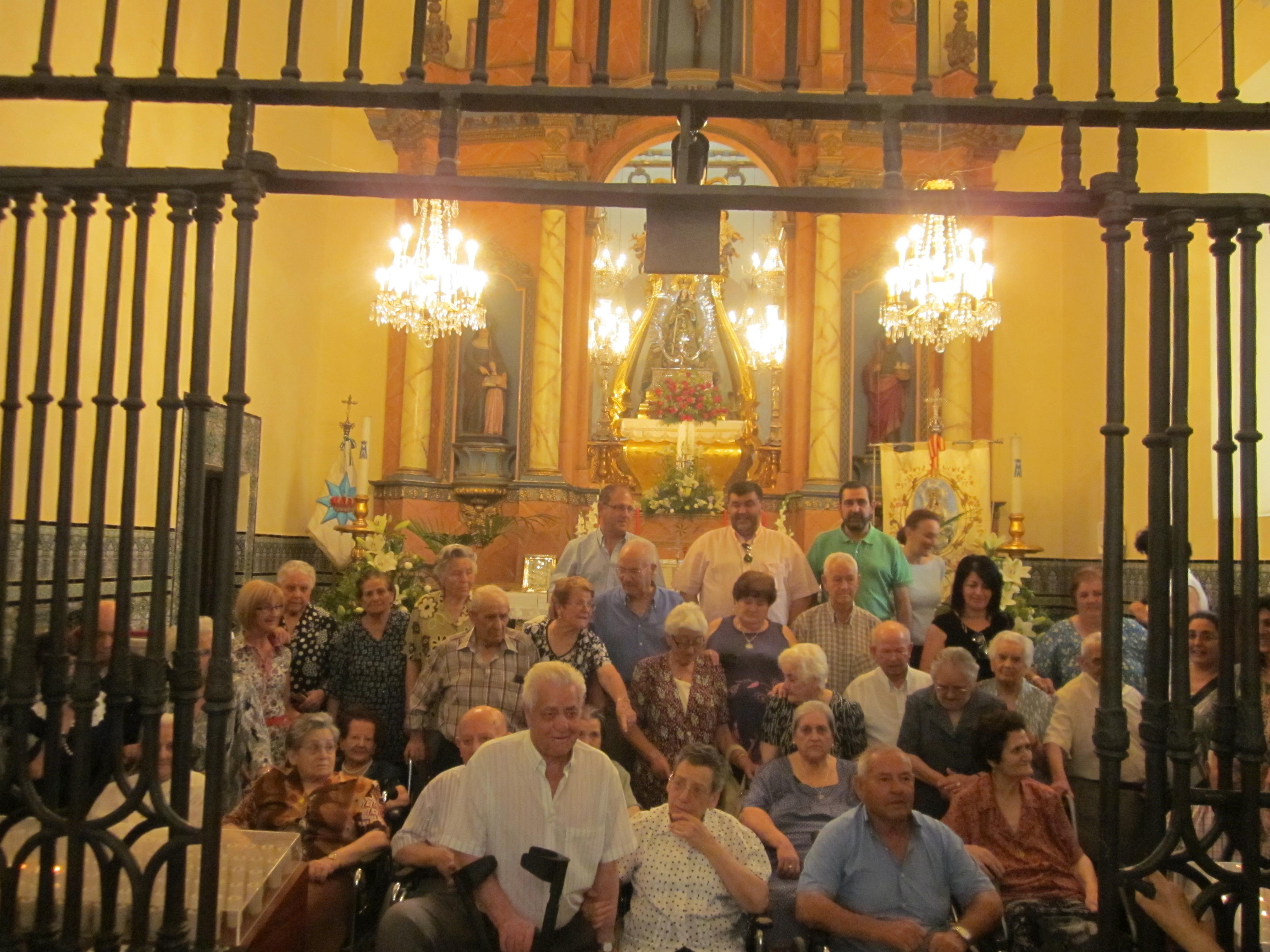 Emoción y cariño en la convivencia de ancianos celebrada en el Santuario de la Virgen de la Estrella